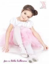 Rajstopy baletowe dla dzieci z otworem na stopie
